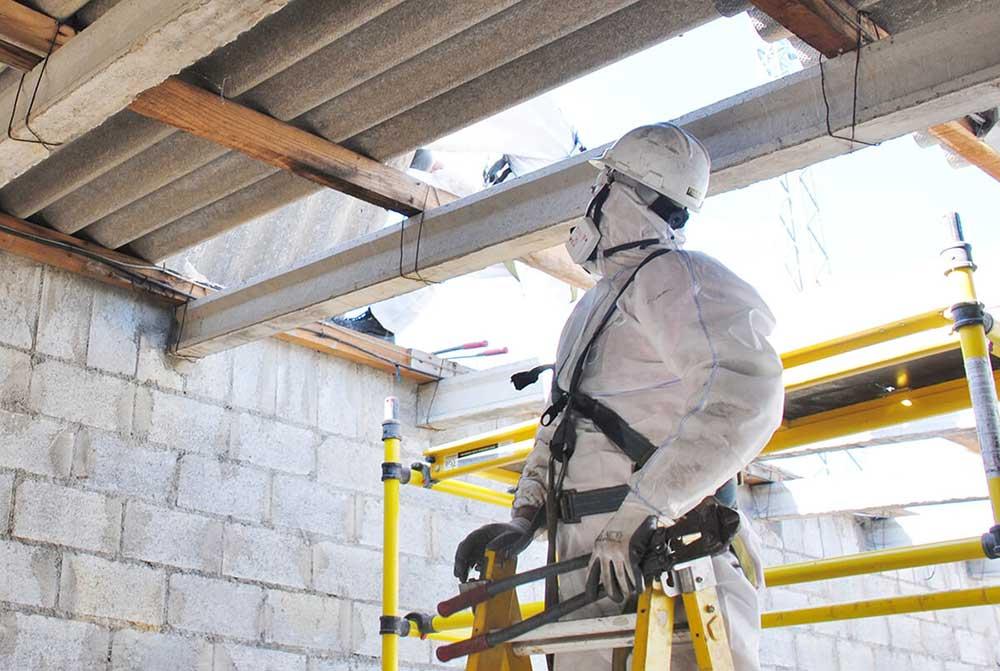 Asbestos Professional Wearing PPE