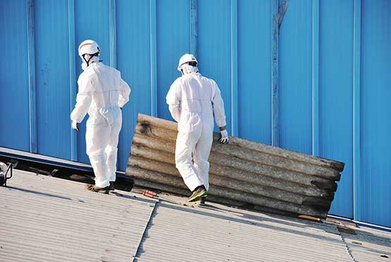 Asbestos Professionals on Roof