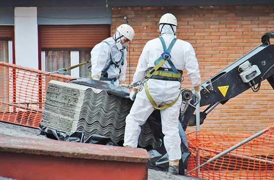 Loading Asbestos On Lifter