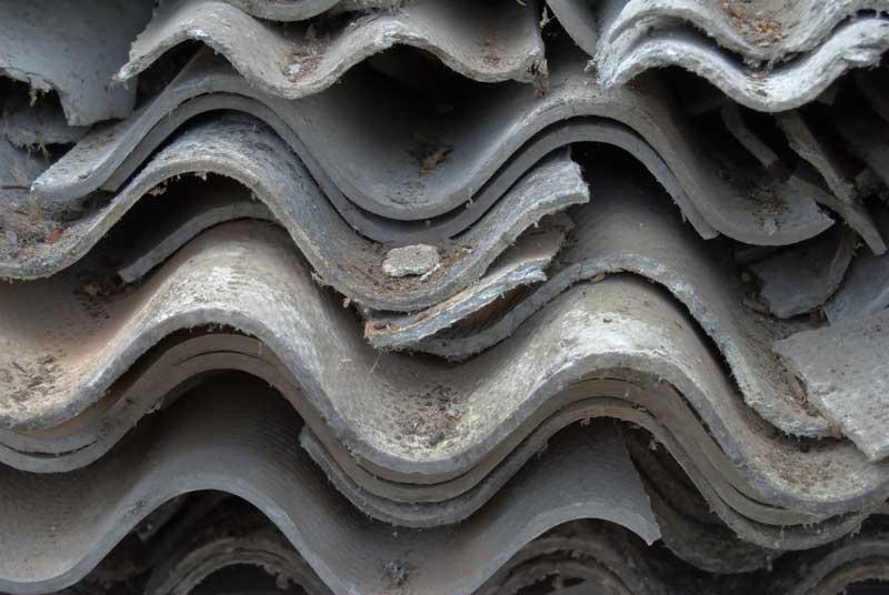 Pile of Broken Asbestos Roof Sheets